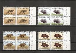 Animaux ( Lot De Timbres De Tunisie En Blocs De 4 XXX -MNH) - Stamps