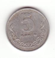 Mongolia, 5 Menge 1970 - Mongolie