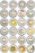 23 Munten    2 Euro Com. 30 Jaar Europese Vlag  De 23 Munten Zijn Leverbaar - Les 23 Pieces Sont Disponible !! UNC  !! - Bélgica