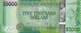 * GUYANA 5000 DOLLARS ND (2013) P-40a UNC  [GY118a] - Guyana