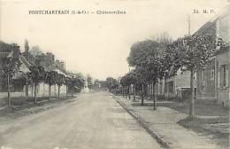 -ref-N 877-  Yvelines - Ponchartrain - Chateauvillain - Carte Bon Etat - - France