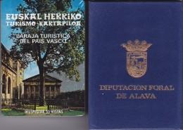 BARAJA VASCA DE POKER DE FOURNIER CON ESTUCHE DIPUTACION FORAL DE ALAVA NUEVA Y PRECINTADA - Barajas De Naipe