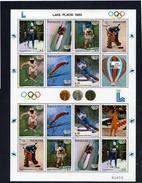 Olympics 1980 - Olympiques - Ice Hockey - PARAGUAY - Sheet MNH - Winter 1980: Lake Placid