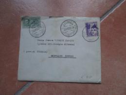 1937 Cent.50 Assistenza Infanzia + ESPRESSO 1,25 Su Lettera Al Verso Amb.Napoli Roma Sigillo Grigio Ecc. - Marcofilía