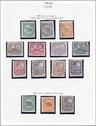 Fiume - Collection Vendue Page Par Page - Timbres Oblitérés/ Neufs *(avec Charnière) - Qualité B/TB - Occupation 1ère Guerre Mondiale