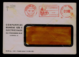 """GAZ+Electricity = """"Comfort With Economy"""" Portugal Publicitary Cover 1962 Gc2699 - Gas"""
