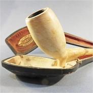 ~ PIPE XIX EME EN ECUME AMBRE ET ARGENT # Tabac Fumeur - Meerschaum Pipes