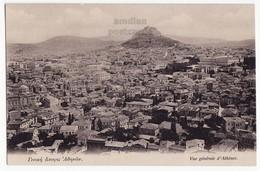 GREECE GRECE ATHENS GENERAL VIEW AND LYCABETTUS HILL C1910s Vintage Postcard, ESTIA BOOKSTORE PUBLICATION [6356] - Greece