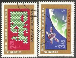 Romania 1974 Usato - Mi.3189/90  Yv.2836/37 - 1948-.... Republiken