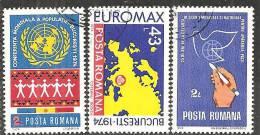 Romania 1974 Usato - Mi.3218/20  Yv.2852/54 - 1948-.... Republiken