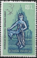 INDONESIA 1962 Ramayana Dancers Blue And Green - 3r. Dewi Sinta MNH