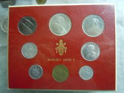 VATICAN CITY 1963  Paul VI ( I  Year) Coin FOLDER - Unc 500 Lire  SILVER RARE - Vatican
