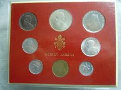 VATICAN CITY 1965  Paul VI ( III  Year) Coin FOLDER - Unc 500 Lire  SILVER RARE - Vatican