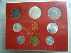 VATICAN CITY 1967 Paul VI ( V Year) Coin FOLDER - Unc 500 Lire  SILVER RARE - Vatican