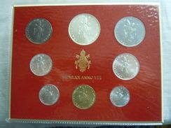 VATICAN CITY 1970 Paul VI ( VIII Year) Coin FOLDER - Unc 500 Lire  SILVER RARE - Vatican