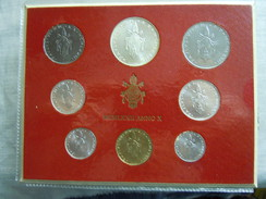 VATICAN CITY 1972 Paul VI ( X Year) Coin FOLDER - Unc 500 Lire  SILVER RARE - Vatican