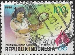 INDONESIA 1989 12th National Games, Djakarta - 100r. - Tennis AVU