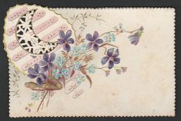 Mignonette Gaufrée R Fleurs  11 X 7.5 Cm - Fêtes - Voeux