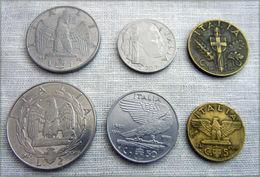 WW2 COIN, FASCIST DUX Mussolini , 1939-1942 Italian Complet SET 6 COINS 1940 - 1861-1946 : Kingdom