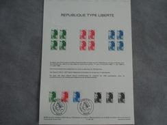 FDC Format A4 - République Type Liberté - Paris 01/08/1985 - 1980-1989