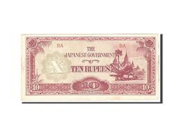 Birmanie, 10 Rupees, 1942, Undated, KM:16b, SPL - Myanmar
