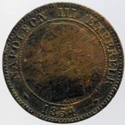 2 Centimes Napoléon III, 1854 MA - Francia