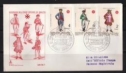 Ordre De Malte 1969 : 2 FDC Avec Timbres Yvert & Tellier N°36 à 40 Et Oblitération 1er Jour. - Malte (Ordre De)