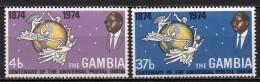 Gambie - 1974 - N° Yvert : 293 & 294 ** - Centenaire De L'UPU - Gambie (1965-...)
