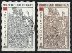 Ordre De Malte 1980 : Timbres Yvert & Tellier N°188 Et 189 Avec Oblitération Manuelle (cachets Ronds) - Malte (Ordre De)