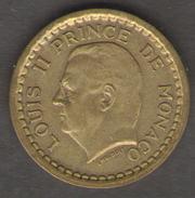 MONACO 20 FRANCS 1943 LUIGI II CUPRO ALUMINIUM - 1922-1949 Luigi II
