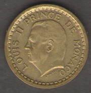 MONACO 20 FRANCS 1943 LUIGI II CUPRO ALUMINIUM - Monaco