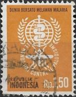 INDONESIA 1962 Malaria Eradication - 1r50 Campaign Emblem  FU