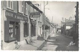 Cpsm Querqueville - Le Bourg Et La Maison Jourdan ( épicerie, Tabac ) - France