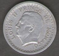 MONACO 1 FRANC 1943 LUIGI II - Monaco