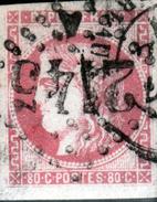 Y & T N°49 Obl Gc 2145A DE LYON LES TERREAUX - 1870 Bordeaux Printing