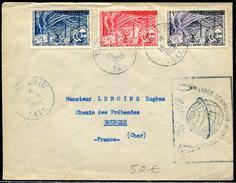 T.A.A.F. -  N° 8 À 10 / LETTRE OBL. TERRE ADÉLIE LE 15/1/1958 AVEC CACHET SPECIAL ANNÉE GÉOPHYSIQUE - TB - French Southern And Antarctic Territories (TAAF)