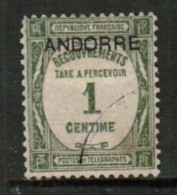 ANDORRA---French  Scott # J 9 VF USED - Postage Due