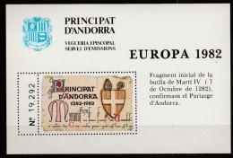 ANDORRE ESPAGNOL BLOC EUROPA 1982 NEUF SANS CHARNIERE - Nuovi