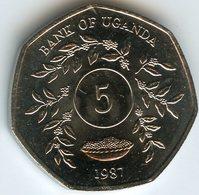 Ouganda Uganda 5 Shillings 1987 UNC KM 29 - Ouganda