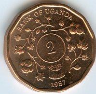 Ouganda Uganda 2 Shillings 1987 UNC KM 28 - Ouganda