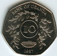 Ouganda Uganda 10 Shillings 1987 UNC KM 30 - Ouganda