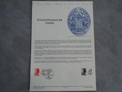 FDC Format A4 - Philexfrance 89 à Paris - Liberté - Dijon 07/03/1987 - 1980-1989