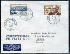 T.A.A.F. -   N° 4 + 19 / LETTRE AVION  DES KERGUELEN LE 7/2/1962 POUR ANGERS - SUP - Covers & Documents