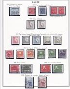 Suède - Collection Vendue Page Par Page - Timbres Oblitérés/ Neufs */** (avec Et Sans Charnière) - Qualité B/TB