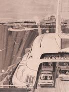 Hydroglisseur Hydroplane - Québec / Lévis - Publicité 1960s - Advertisement - Bière Laurentides Labatt - 2 Scans - Quebec