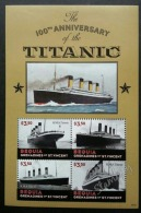 St. Vincent 100 Years Of Titanic 2012 Sinking Ship Transport (sheetlet) MNH - St.Vincent & Grenadines