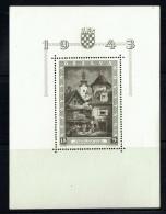 1943  Expo Philatélique De Zagreb   Eglise Ste Marie Et Cloitre   Bloc-feuillet MiNr Bloc 6** - Croatie