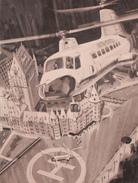 Helicoptère Helicopter - Château Frontenac  - Publicité 1960s - Advertisement - Bière Laurentides Labatt - 2 Scans - Québec - Château Frontenac
