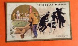 Chocolat Masson Chromo Champenois Jeu Billard - Non Classificati