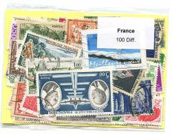 Lot De Timbres De France (100 Differents) - Frankreich